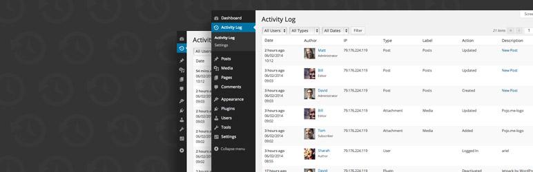 افزونه Activity Log