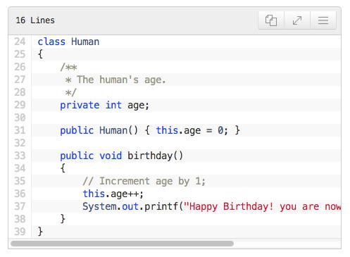 یک قالب ساده در افزونه Mivhak Syntax Highlighter