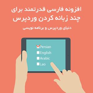 افزونه فارسی قدرتمند برای چندزبانه کردن وردپرس