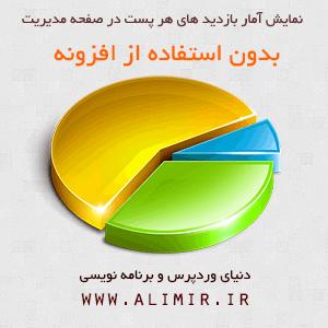 نمایش آمار بازدید از مطالب در پنل مدیریت وردپرس